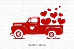 Valentines vintage Truck svg, Valentines Day SVG, Love SVG Product Image 1