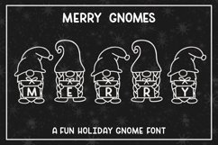 Merry Gnomes - A fun holiday gnome font Product Image 1