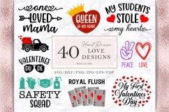 Valentine's Day Svg Bundle, 36 Valentines Shirt Designs Png Product Image 4