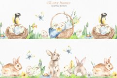 Easter bunnies watercolor Product Image 5