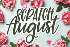 Web Font Scratch August - A Superb Hand Lettered Duo Product Image 1