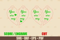 Keychains SVG Glowforge file, You are My Keychain SVG files Product Image 2