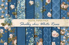 Shabby chic roses seamless patterns Product Image 1