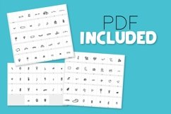 Doodle Font - With over 90 Dingbats! Product Image 2