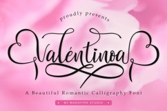 Valentinoa | A Romantic Calligraphy Font Product Image 1