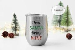 Christmas Wine Tumbler Mockup Product Image 2