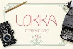 Lokka Uppercase Font Product Image 1