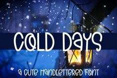 Web Font Cold Days - A Cute Hand-Lettered Font Product Image 1