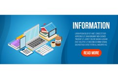 Information concept banner, isometric style Product Image 1