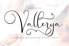 Vallerya | Handcrafted Brush Script Font Product Image 1