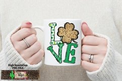 LOVE St Patrick's Day Dye Sublimation PNG Design Product Image 3