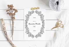 Hand drawn wreath / Wreaths and Frames Product Image 3