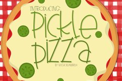 Pickle Pizza - A Handwritten Font Product Image 1