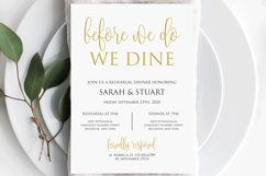 Gold Before we do we dine invitation, Printable rehearsal Product Image 4
