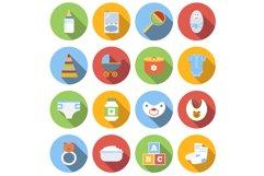Baby icons set Product Image 1