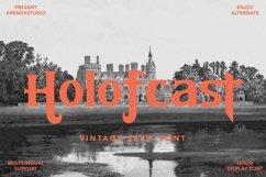 Holofcast - Vintage Serif Font Product Image 1