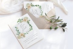 Cream Roses Save the Date Template Product Image 1