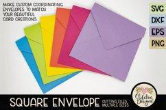 Square Envelope SVG - Square Envelope SVG Cutting File Product Image 2