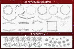 20 Christmas Wreath Stamp Brushes for Procreate Product Image 4