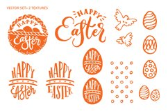 Happy Easter. Vector elements and watercolor textures. Product Image 5