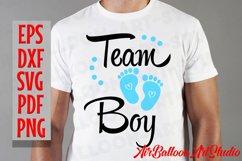 Team Boy Svg & Team Girl Svg Gender Reveal Svg Pregnancy Svg Product Image 5