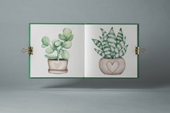 """Watercolor ClipArt """"Home Plants"""" Product Image 5"""