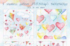 Romantic watercolor set. Love is in the air Product Image 5