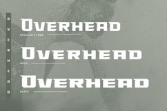 Overhead Typeface   Font Product Image 2