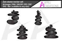Zen stone svg / spa stone clipart Product Image 3