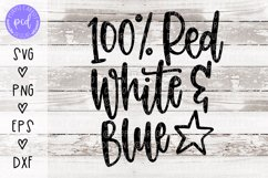 Red White and Blue Hand Lettered Cut File Product Image 1