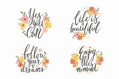 Motivational quotes. Inspirational quotes PNG. Cute phrases. Product Image 2