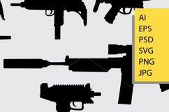 Gun weapon silhouette Product Image 2