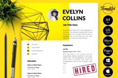 Modern Resume CV Template for Word & Pages Evelyn Collins Product Image 1