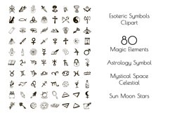 Esoteric Symbols Clipart. Spiritual Sacred Magic Elements Product Image 4