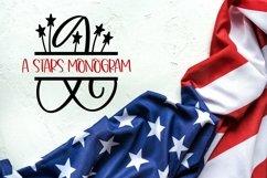Web Font A Stars Split American Monogram Font Product Image 5