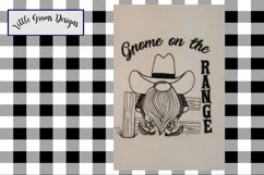 Cowboy Gnome Toilet Paper Towel Embroidery Design Product Image 2
