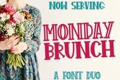 FB - Monday Brunch - A Cut Friendly Font Duo Product Image 1