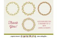 FLORAL MEGA BUNDLE 30 wreath, laurel, heart leaf frames SVG Product Image 4