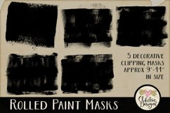 Clipping Masks - Rolled Paint Photoshop Masks & Tutorial Product Image 2