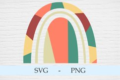 Abstract geometric rainbow in the style of boho Product Image 2