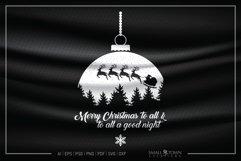 Merry Christmas, Santa Claus, Christmas, PRINT, CUT & DESIGN Product Image 1