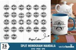 Monogram svg mandala split letter alphabet designs Product Image 1