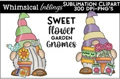 Sweet Flower Garden Gnomes Sublimation Clipart Product Image 1