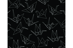 Paper Cranes Seamless Pattern Product Image 1