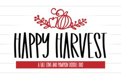 Happy Harvest - A Tall Font And Fall Doodle Duo Product Image 1