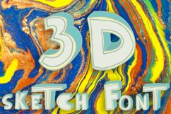 3D style sketch font Product Image 1
