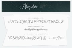 Aligator Signature Font Product Image 4