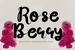 Rose Berry - Beautiful Handwritten Font Product Image 1