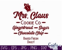 Christmas Svg, Mrs. Claus Cookie Co., Round Christmas Product Image 2