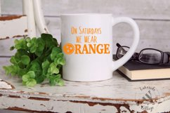 On Saturdays We Wear Orange Tennessee SVG Design Product Image 2